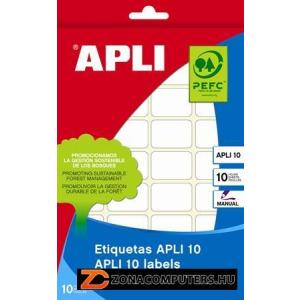 Etikett, 25x40 mm, kézzel írható, kerekített sarkú, APLI, 160 etikett/csomag (LCA1646)