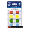 Jelölőcímke, műanyag, 4x36 lap, 43x12,5 mm, VICTORIA, vegyes szín (LVOJ4)