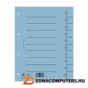 Regiszter, karton, A4, DONAU, kék (D8610K)