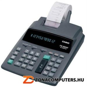 """Számológép, szalagos, 12 számjegy, 2 színű nyomtató, CASIO """"FR-2650"""" (GCFR2650T)"""