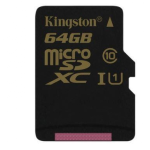 Kingston Micro SDXC 64GB CL10 UHS-1 (read/write 90/45MB/s)