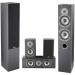 Akai SS016A-655MK Passzív hangszórórendszer, 70W, Fekete (SS016A-655MK)