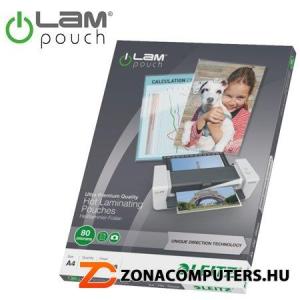 """Meleglamináló fólia, 80 mikron, A4, fényes, UDT technológiával, LEITZ """"iLam"""" (E74780000)"""