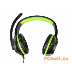 Media-Tech MT3564 PURUS Headset Black/Green Headset,2.0,3.5mm,Kábel:2m,32Ohm,20Hz-20kHz,Mikrofon,Black/Green