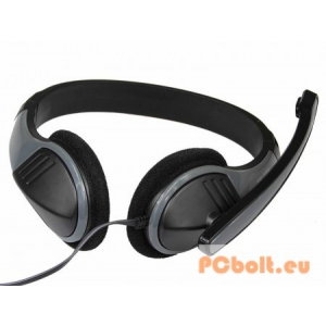 Media-Tech MT3562 LECTUS Headset Black/Grey Headset,2.0,3.5mm,Kábel:2m,32Ohm,20Hz-20kHz,Mikrofon,Black/Grey