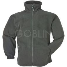 Coverguard POLÁR cipzáros pulóver, szürke, 340 g/m2-es polár anyag, végig cipzáros, oldalzsebes