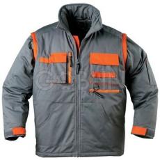Coverguard PADDOCK télikabát, szürke, narancs díszítéssel, levehetõ ujjakal és -kapucnival