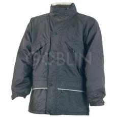 Coverguard ISA fekete polárbéléses kabát fényvisszaverõ csíkkal