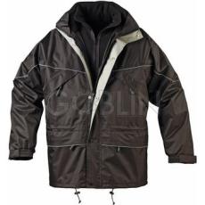 Coverguard ISA II 3 az 1-ben fekete vízhatlan kabát, kivehetõ polár pulóver, fényvisszaverõ díszcsík