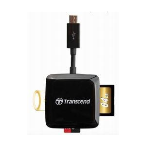 Transcend card reader USB 2.0 Black Pocket Size