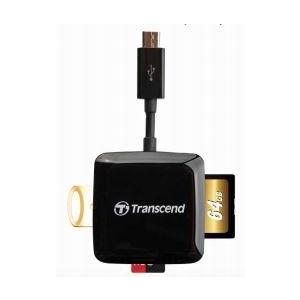 Transcend card reader USB 2.0 Black Pocket Size