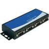 DELOCK USB 2.0 adapter 4 x D-SUB 9 pól. dugó – 1 x USB 2.0 B, fekete, Delock 87587