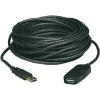 USB 2.0 hosszabbító kábel 10 m, fekete, Manhattan 150248