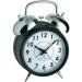 Rádiójel vezérlésű ébresztőóra, 130 x 180 x 70 mm, fekete, Nosztalgia