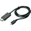 Digitus MHL adapterkábel, micro USB B - HDMI, Digitus