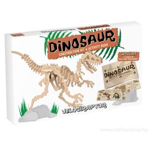 Professor Puzzle Velociraptor Professor Puzzle fa építő szett, nagy