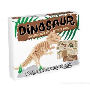 Professor Puzzle T-Rex fa  Professor Puzzle építő szett, közepes