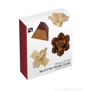 Professor Puzzle Ultimate IQ 4 db-os Professor Puzzle fa ördöglakat szett
