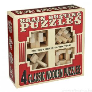Professor Puzzle Brainbusting 4db-os Professor Puzzle fa ördöglakat szett