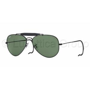 Ray-Ban RB3030 L9500 OUTDOORSMAN BLACK CRYSTAL GREEN napszemüveg