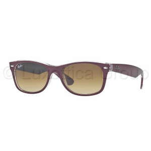 Ray-Ban RB2132 605485 NEW WAYFARER TOP MATTE BORDO' ON TRAS BROWN GRADIENT napszemüveg