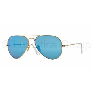 Ray-Ban RB3025 112/4L AVIATOR MATTE GOLD BLUE MIRROR POLAR napszemüveg