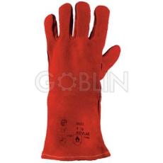Euro Protection Kevlar® szállal varrt, bélelt, szikra- és hõálló piros marhahasíték hegesztõkesztyû