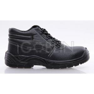 Coverguard MIXITE (S1) fekete bõr bakancs, acél lábujjvédõvel