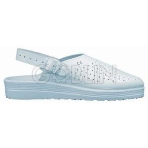 Coverguard PILLE (OB E) sarokpántos fehér papucs, antisztatikus