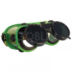 Lux Optical® Revlux Eco hegesztõszemüveg, felhajtható kerek lencse, hõálló mûanyag keret, pormentes...