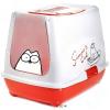 Karlie Simon's Cat macskatoalett - Piros / fehér