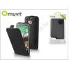 Muvit HTC ONE (M8) flipes tok képernyővédő fóliával - Muvit Slim - black