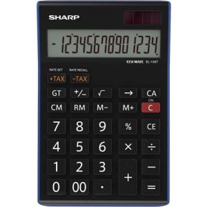 Sharp Számológép, asztali, 14 számjegy, SHARP EL-145TBL (SH145TBL)