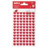 APLI Matrica, filc anyagú, APLI, piros szívek (LCA13511)
