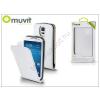 Muvit Samsung SM-G900 Galaxy S5 flipes tok képernyővédő fóliával - Muvit Slim - white