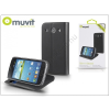 Muvit Samsung i8260 Galaxy Core flipes tok kártyatartóval - Muvit Slim and Stand - black