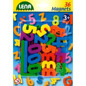 Lena - Mágneses számok és jelek 36 db, 3 cm