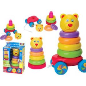 Fun Time - Húzható mackós montessori bébijáték