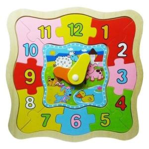 Fakopáncs Puzzle-órás, háziállatos
