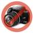 VIVA Galaxy S5 hívás mutató flip tok,Fehér