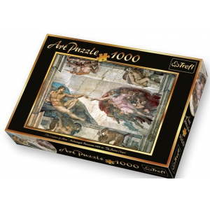 """Trefl Puzzle játék, 1 000 db-os,   """"Ádám teremtése"""""""