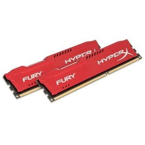Kingston HyperX Fury Red 8GB 1600MHz DDR3 memória Non-ECC CL10 Kit of 2
