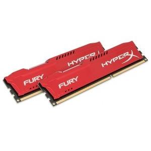 Kingston HyperX Fury Red 8GB 1333MHz DDR3 memória Non-ECC CL9 Kit of 2