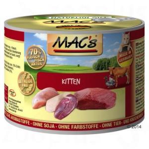 MAC's MAC´s Cat 6 x 200 g - Borjú & pulyka