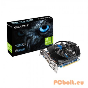 Gigabyte GT740 2GB DDR5 GV-N740D5OC-2GI nVidia,PCIE,GPU:993/1072MHz,RAM:5000MHz,2GB,DDR5,128bit,Aktív hűtés,VGA,2xDVI,1xHDMI