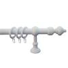NEMMEGADOTT rúdkarnis műa. fehér d=28mm 200cm (tartozékkal)