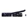 NEMMEGADOTT kapuzár kétszárnyas fekete 440x70mm