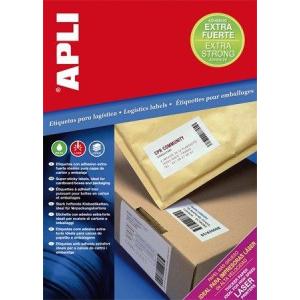 """Etikett, univerzális, 105x74 mm, extra erős, APLI """"Super Sticky"""", 800 etikett/csomag (LCA11784)"""