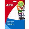 Etikett, 8x20 mm, kerekített sarkú, A5 hordozón, APLI, 1890 etikett/csomag (LCA1858)