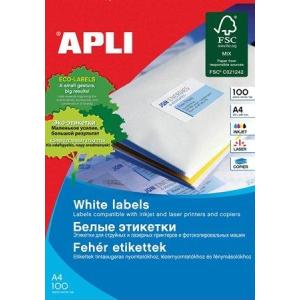 Etikett, univerzális, 97x42,4 mm, APLI, 1200 etikett/csomag (LCA1288)